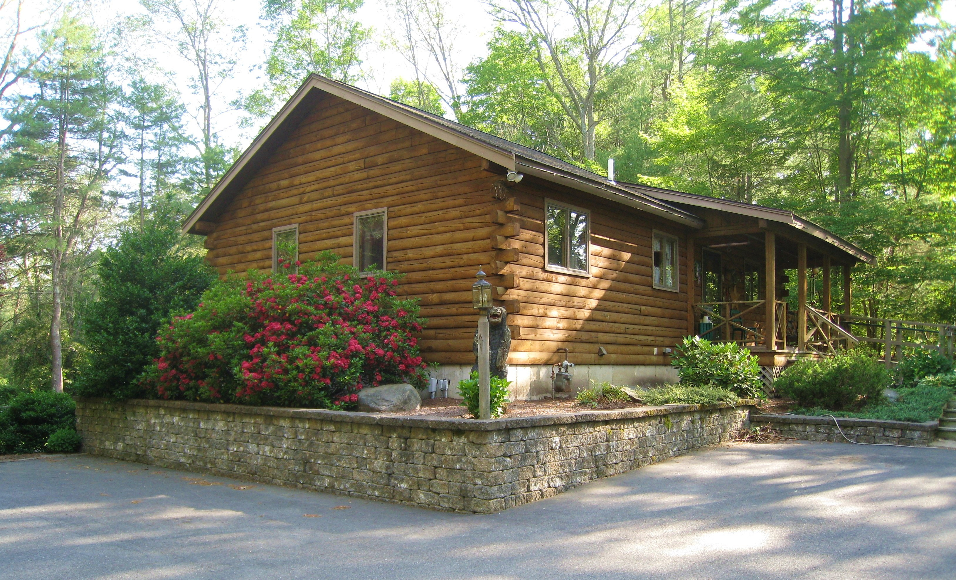 Log cabin retreat lot sold for Log cabin retreat